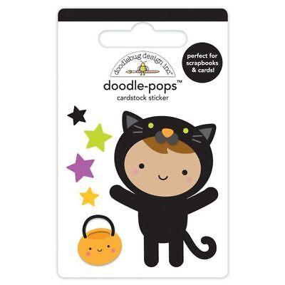 - Scrapbooking Crafts Doodlebug CS Stickers Doodlepop Cute Kitty Boy Cat Costume