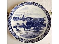 Blue and White Delf Plate