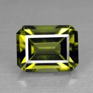 Fine Olive Green Natural Tourmaline Gem Stone