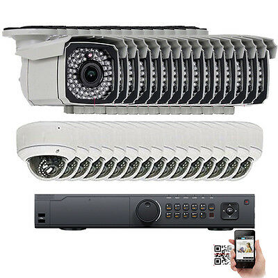 32Ch NVR 2592P 5MP PoE IP ONVIF 2.8-12mm Lens Security Camera OSD System 5TB H)D