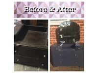 Upcycled retro / vintage / Antique dressing table / drawer unit