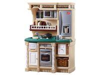 Children's toy play kitchen set fisher price