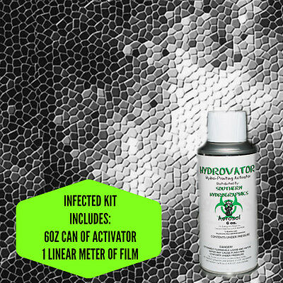 HYDROGRAPHIC FILM WATER TRANSFER HYDRO DIP 6OZ. ACTIVATOR INFECTED KIT