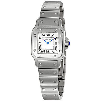 Cartier Santos de Cartier Guilloche Roman Dial Ladies Watch W20056D6