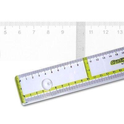 Zeichenlineal Grafika 50 cm mit Parallelenmarkierung