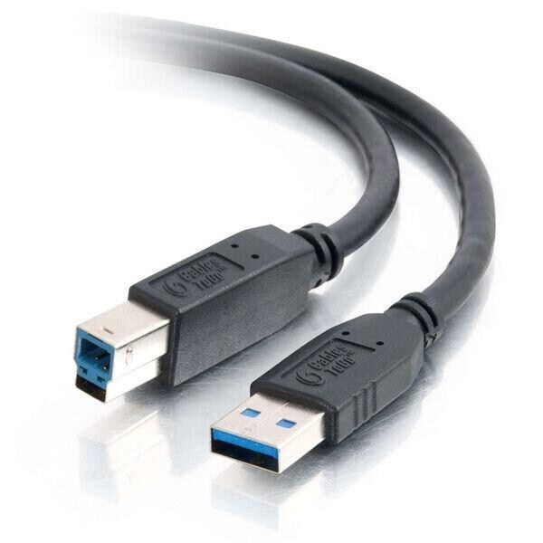C2G 2m USB 3.0 A Male to B Male Cable (Black)