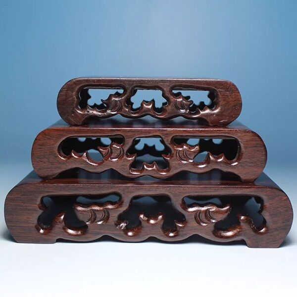 Carving Display 3pcs Hard Wood Stand for netsuke Snuff Bottle