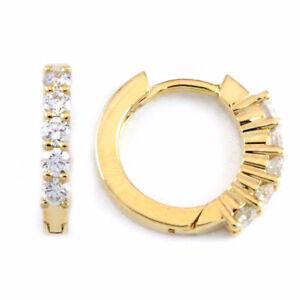 14k Yellow Gold Round Diamond Earrings (0.25 tdw) #3332