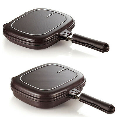 [HAPPYCALL]Double Sided Pressure Plasma Titanium Frying Pan Cookware 2 SET