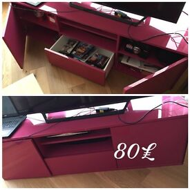 Pink IKEA Tv Stand