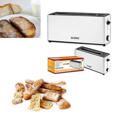 Tostadora electrica Multi Pan ranura extra larga 2 tostadas tostador 900W