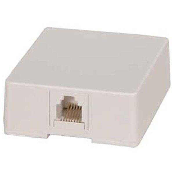 8x 1 Port RJ45 8P8C Network Ethernet LAN White Modular Jack Surface Mount Box