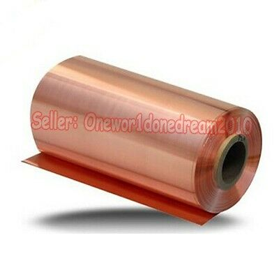 1 Piece 99.9 Pure Copper Cu Metal Sheet Foil 0.2 X 100 X 1000 Mm High Purity