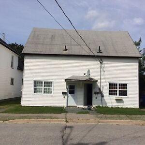 Both sides of duplex and large 2 storey garage