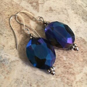 Sterling Silver Crystal Earrings
