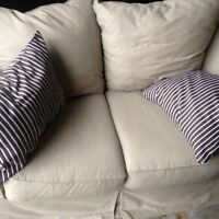 Beautiful Cotton-Suede Couches