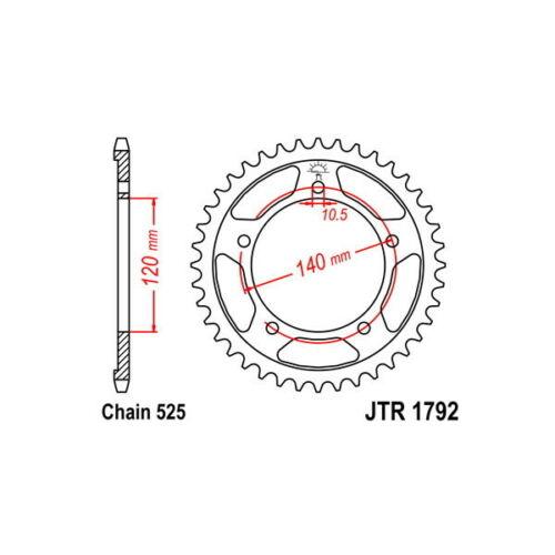 Crown S Steel p525 d45 SUNSTAR suzuki 600 gsx r (k8/k9/l0
