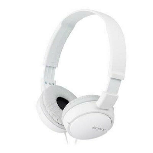Sony ZX Series Wired On-Ear Headphones, White