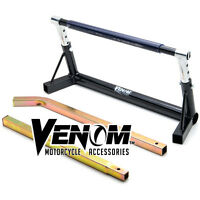 Adjustable Motorcycle Pivot Center Lift Bar Stand - Extends from