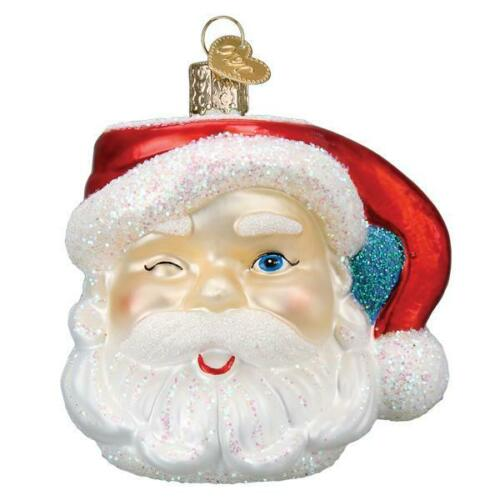 Old World Christmas SANTA MUG (32452)N Glass Ornament w/ OWC Box