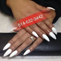 SPECIAL POSE D'ONGLES ACRYLIC, SHELLAC,RESINE,GEL,PEDICURE ECT