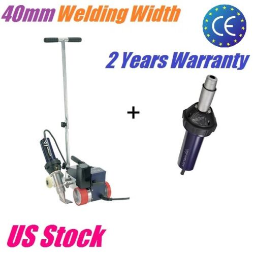 Weldy 3400W PVC Banner Welding Machine Hot Air Roofer Welder+40mm Welding Nozzle