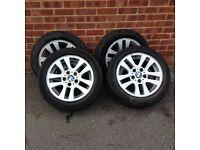 "Bmw 3 series e90 e91 Alloy Wheels 205 55 16"" 320"
