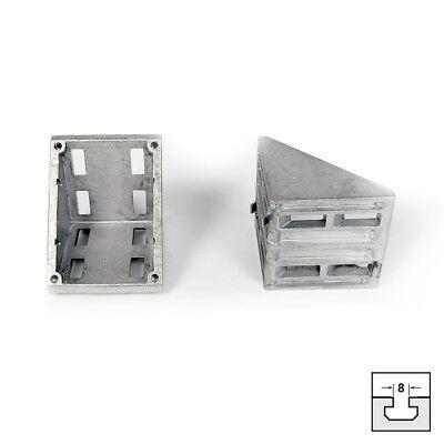 Winkel 80x80 Nut 8 für Aluprofil 80x80 Konsole KINETIK MSystem® oder I-Typ *NEU