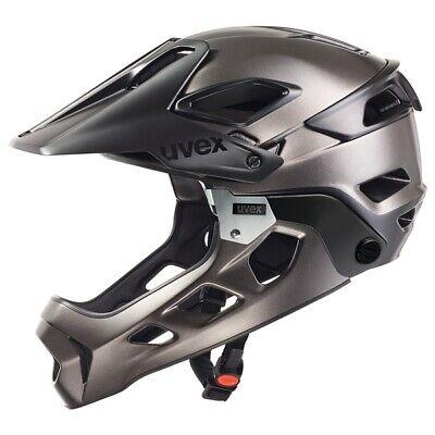 Uvex jakkyl hde Radhelm black-darksilver matt Downhill Helm Fullface Helm 52-57