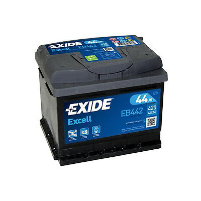 Exide44Ah 420CCA 12v Type 063 Car Battery 3 Year Warranty EB442/EA472 Alt.