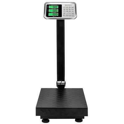 220lbs 100kg Weight Computing Floor Platform Scale Postal Shipping Us Charger