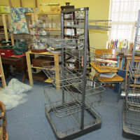 STORE DISPLAY RACKS WIRE SHELVES MOVEABLE HEAVY DUTY