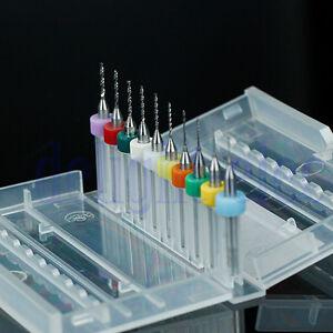 10pcs 0.3mm to 1.2 mm PCB Print Circuit Board Carbide Micro Drill Bits Tool DE