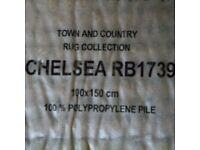 Rugs - Two Brown deep pile rigs 100 x 150cm