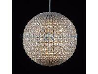 Amazing Fine K9 Crystal Medium Ball Chandelier New in Box