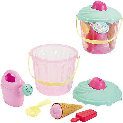 Ecoiffier Eimergarnitur Muffin (Pastell) Sandspielzeug Sandeimer Gießkanne NEU