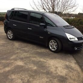 2009 espace 2 ltr dci diesel 84k with mot and new set of Avon tyres, car has timing chain not belt