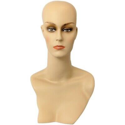 Mn-411 Female Display Mannequin Head Form With Stylish Neck And Shoulder