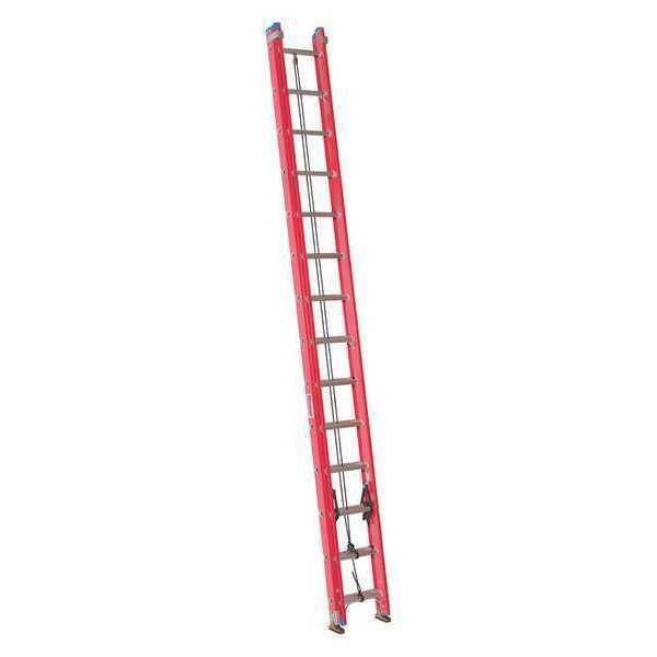 WESTWARD 44YY49 Extension Ladder, Fiberglass, 28 ft. , Type IA