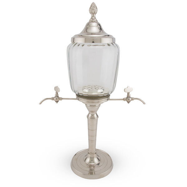 Belle Epoque Metal Absinthe Fountain - 2 Spouts - French Absinth Drinking Gift