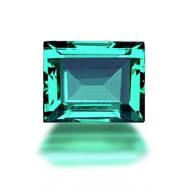 Lab Created Hydrothermal Colombian Emerald Baguette Loose Stones (4x2mm-18x13mm)