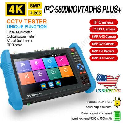 74k H.265 Ahd Cvi Tvi Sdi Multimeter Tdr Camera Tester Ipc-9800movtadhs Plusus