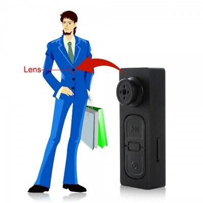 Dress Shirt Button Hidden Pinhole Spy Camera Digital Video Recorder+ 8GB SD Card for sale  Shipping to Nigeria