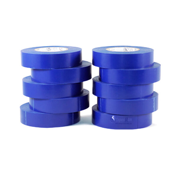 """TapesSupply 10 Rolls Pack Blue Electrical Tape 3/4"""" x 66 ft"""