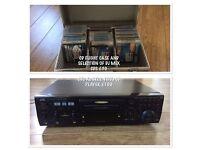 Jvc XX-sv22 video CD player & cd flight case with DJ mix CDs