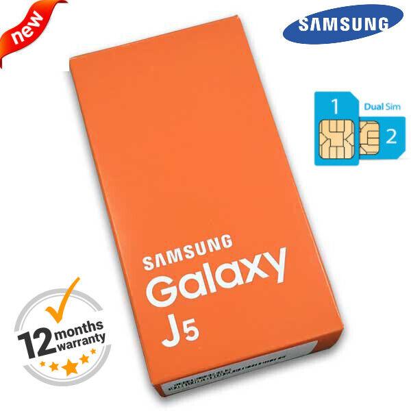 Android Phone - NEW Boxed 4G 16GB Samsung Galaxy J5 J500F Dual SIM Unlock Android Smart Phone UK