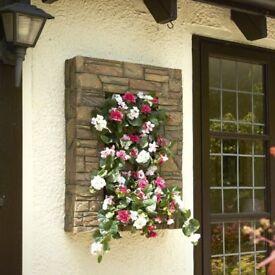 Wall Planter Brick effect Measures 88cm x 68cm x 20cm Quality Fibre Glass Brand New