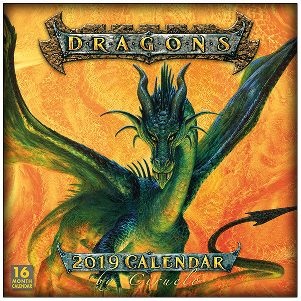 Dragons by Ciruelo Cabral 16 Month 2019 Fantasy Art Wall Calendar NEW SEALED