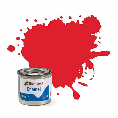 Pintura Enamel Bright Red Gloss 19 Humbrol AA0206 14ml