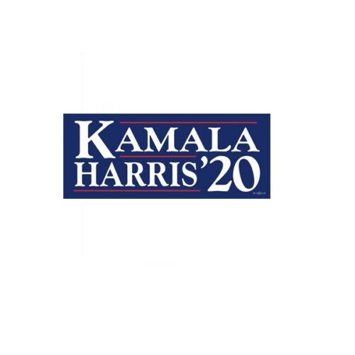Kamala Harris For President 2020 Navy Blue Bumper Sticker